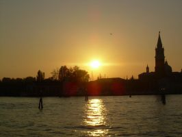 Sunset over Venice by xNiche