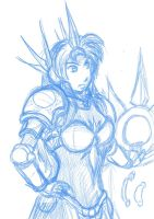 Leona sketch by The-Piojolopez