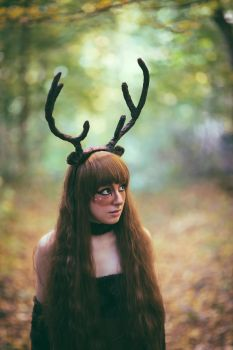 Deer Girl from the Woods by albertsphotos