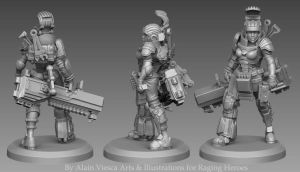 Raging Heroes - Zbrush Miniature001 by Corbistiger
