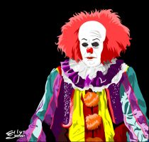 (Tim Curry as) Pennywise the Dancing Clown by ellysketchit
