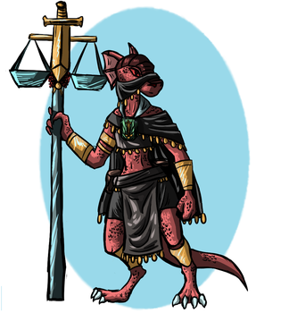Riyit Pinup- Kobold Priestess of Lendys by InvaderPixi