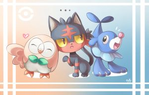 Pokemon Sun and Moon Starter by KagamiiX