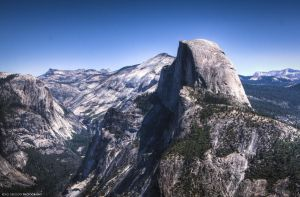 Half Dome from Glacier Point by CryptikFox