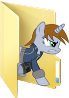 (Request) Littlepip folder icon by ToonAlexSora007