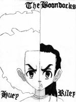 huey and riley the boondocks by TIP-the-Revolution