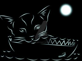 Neon Cat by XM94