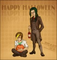 Gregor + Clive:Halloween Entry by kiyone