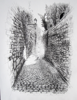 Ruelle des freres mineurs a Huy by nabzz