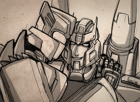 Prowl/Chromedome doodle by VolverseLoco
