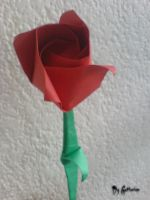 Origami Rose by Gaffonium