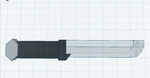 3D REVAMPED BASIC COMBAT KNIFE by megabloxer27