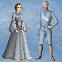 Jon Arryn and Lysa by alcanis-ivennil