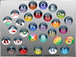 Adobe CS3 Replacment Icons by tooparannoyed