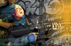 Shadowrun - Suppressive Fire by echo-x
