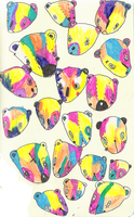 psychedelicbears by givemeantlers
