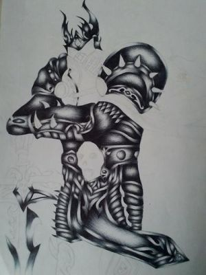 Uncompleted Arthas Drawing by Becky-louu
