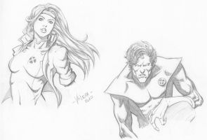 Random character sketches 5 by RV1994