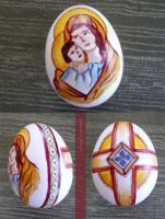 Madonna and Child Easter Egg by ShaylynnAnn