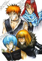 Bleach cross-cosplay colored by dzagy