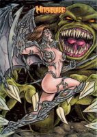 Witchblade Sketch Card 3 by tonyperna