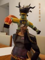 Kujo Jotaro and Star Platinum Papercraft by DraikenTalkos