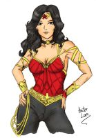 New Wonder Woman Design by bluekensou