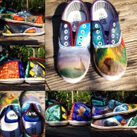 Painted Shoes by Alaminia