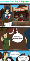 Anyone Can Be A Fighter   Mini Comic by S-k-y-F-r-e-e