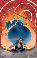 The Cleavage Crusader's Crushing Defeat by expansion-fan-comics