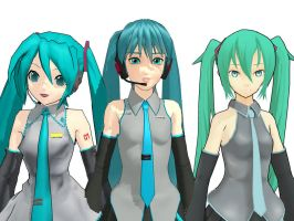 Other miku's by LilacDrops