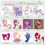 My 2013 Art Summary by VioletV