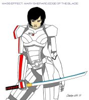 Mary Shepard, Edge of the Blade Color Version! by CharlesWS