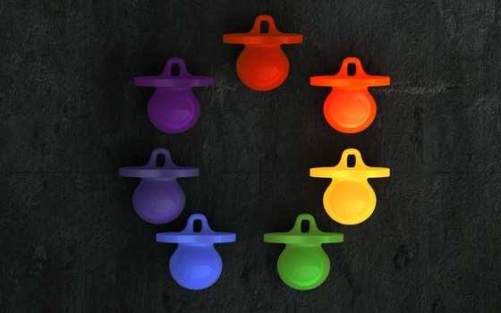 Arcobaleno Pacifiers 2 by Death-Inc