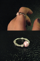 Crafted Magnetic Pink Ring by sampdesigns
