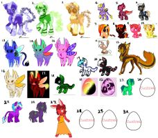 30 Chara Big Adopt Sheet (name your price) by ScarletValkyrie