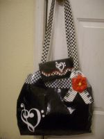 Music Duct Tape Bag and Wallet by katiesparrow1