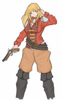 Pirate girl design - lined and colored by Alvinbroo