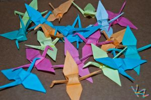 My origami challenge by Beffana