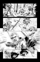 Green Arrow 7 Page 17 B+W art by mikemayhew