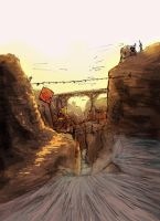 A Perilous Path to Rock Falls by TheOldYeBard
