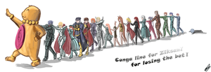Conga line for Ziksan by Frost7