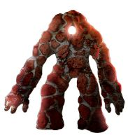 Molten Rock Golem Colored by Message-Err