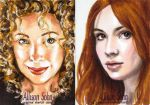 Dr Who sketch cards color by AllisonSohn