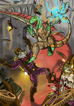 Steampunk 'Raptor Party by Silverback1