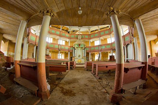 Abandoned evangelical church by mjagiellicz