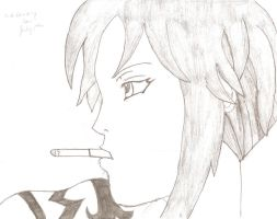 A Lonely Soul (Revy) by AlistairVanAllen