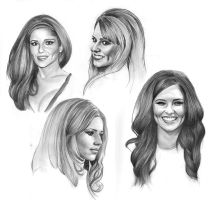 Cheryl Cole - Mini Sketches by Charlzton
