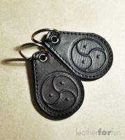 key rings by leatherforfun