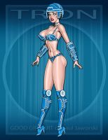 TRON GIRL 1 by GOODGIRLART